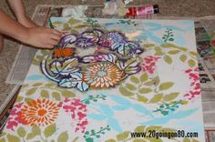 Make your own painting: Stencil wall art