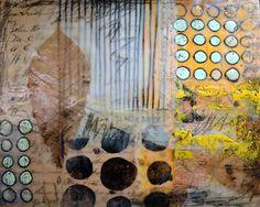 Encaustic collage by Elaine Brady Smith