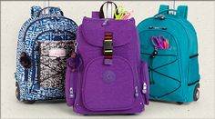 Heavy books? Avoid the back-to-school backache with a WHEELED BACKPACK! #Back2Kipling