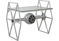 Star Wars TIE Fighter Gray Desk .299.0. 40W x 28.5D x 35H. Find affordable Desks for your home that will complement the rest of your furniture.  #iSofa #roomstogo