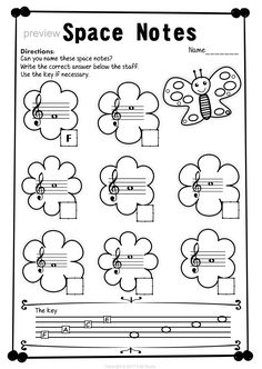Treble Clef Note Naming Worksheets for Spring This set of 10 Music worksheets Spring themed is designed to help your students practice identifying Treble pitch. Music Lessons For Kids, Music For Kids, Piano Lessons, Learning Music Notes, Music Education, Piano Songs For Beginners, Music Theory Worksheets, Piano Recital, Piano Teaching
