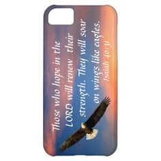 eagle bible verse Isaiah 40:31 Case For iPhone 5C, also have this for other iPhone styles, samsungs, motorola razr, iPod touches and iPads.