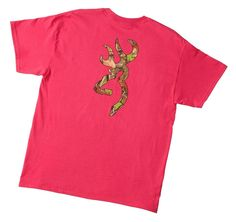 Browning Unisex Buckmark Camo T-Shirt Fuchsia