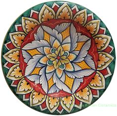 Ceramic Decorative plate - Vario Antico style - 12cm
