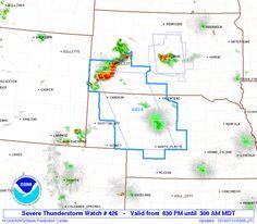SPC Severe Thunderstorm Watch 426 Status Reports - http://blog.clairepeetz.com/spc-severe-thunderstorm-watch-426-status-reports/