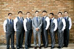 charcoal groomsmen suits, grey groom suit