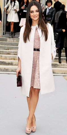 03/03/12: The new face of Christian Dior, Mila Kunis represented the brand well in a pretty blush design.