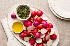 Radishes with Herbed Salt and Olive Oil