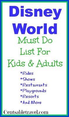 Disney-World-Must-Do-List #disney #disneyvacations #disneyworld