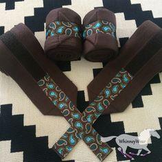 Brown & Paisley ribbon trim polo wraps by WhinneyWear