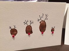 How to Archieven Diy Holiday Cards, Homemade Christmas Cards, Diy Cards, Nordic Christmas, Toddler Christmas, Christmas Holidays, Christmas Tables, Modern Christmas, Crafts To Make