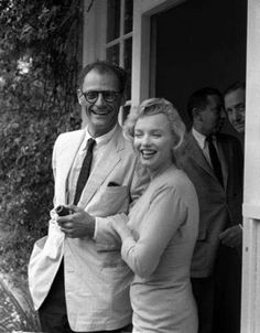 With Arthur Miller, at Parkside House, in Englefield Green, Egham, 7/1956.