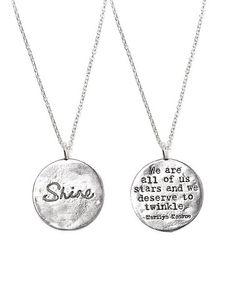 Look at this #zulilyfind! Silver 'Shine' Pendant Necklace #zulilyfinds