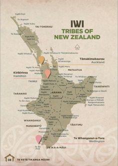Map of NZ Māori Iwi - North Island