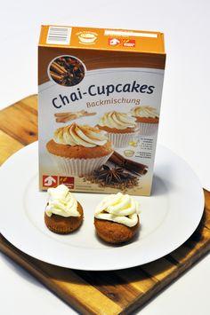 So schmeckt Indien: Diese feinen Chai-Cupcakes sind vom indischen Masalai Chai inspiriert und schmecken nach Zimt, Kardamom und Sternanis. Vernaschen - und genießen!