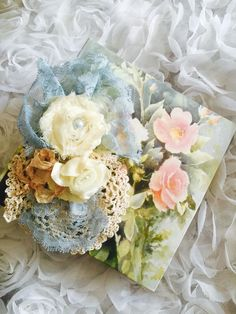 A personal favorite from my Etsy shop https://www.etsy.com/listing/244880019/shabby-chic-photo-album-vintage-photo