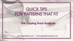 The gaping front armhole issue is so common and often misunderstood even though this is probably the easiest fitting issue to correct. Watch the video for some insight.