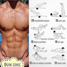 Fitness Workouts, Fitness Motivation, Tips Fitness, Ab Workout Men, Sport Fitness, Body Fitness, Physical Fitness, Fitness Goals, At Home Workouts
