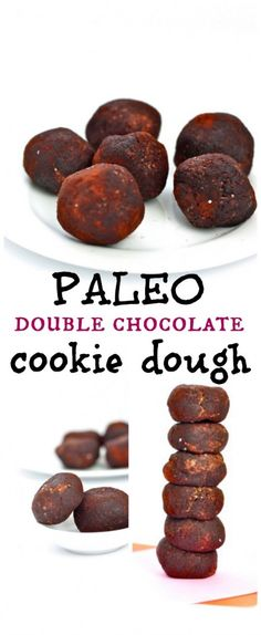 Paleo Double Chocolate Breakfast Cookie Dough- Who ever said Paleo followers can't eat cookie dough were wrong. For breakfast too? Yep. Double chocolate too? Yep. Healthy, delicious and a filling start! Gluten Free and Vegan too! .