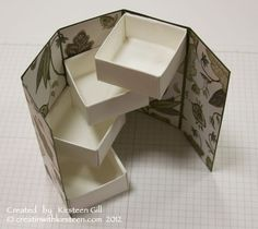 Tired of gift bags? Make your your present unique--let the delightful opening be part of the gift! Opening stepper gift box tutorial                                                                                                                                                      More