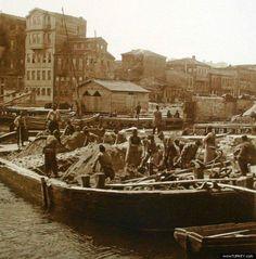 Beşiktaş iskelesi yapılıyor (1870) #istanbul #istanlook