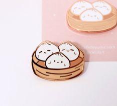 Buy Bao Dim Sum Women Decoration Fashion Jewelry Brooch Pin at Wish - Shopping Made Fun Dim Sum, Kawaii Gifts, Kawaii Stuff, Jacket Pins, Cool Pins, Metal Pins, Pin And Patches, Pin Badges, Lapel Pins