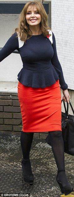 Carol Vorderman - hold ups