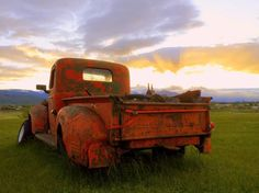 This old truck collects sunsets . . .