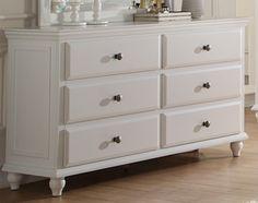 Poundex White Dresser F4351