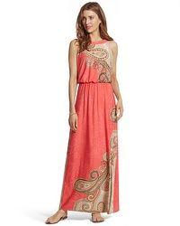 Contrast Paisley Hope Maxi Dress