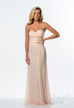 Terani Couture - Evening Dresses, 2015 Prom Dresses, Homecoming Dresses, Mother of the Bride  Gorgeous peach prom dress! Style 0040 by Terani Couture