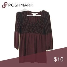 Vintage purple top Cute maroon top. Puffy sleeves. It's a size L but fits as a small too. Studio M Tops