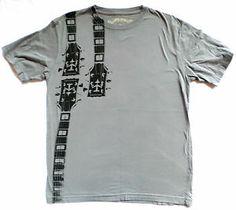 Mens Size M Gray Topo Ranch T Shirt, Guitar Necks,Super Soft Thin Organic Cotton $19.99
