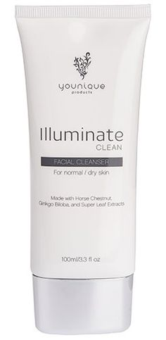 Illuminate Clean - facial cleanser for normal/dry skin #Younique by Christine Block www.youniqueproducts.com/christineblock  #beauty #clean #skin