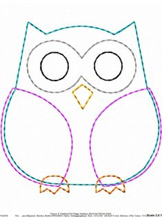 ITH Owl Raggy Applique DIGITAL Embroidery Design You are in the right place about embroidery shoes Here we offer you the most beautiful pictures about the embroidery tree you are looking for. Owl Sewing Patterns, Felt Animal Patterns, Stuffed Animal Patterns, Quilt Patterns, Embroidery Designs, Sewing Crafts, Sewing Projects, Owl Quilts, Felt Owls