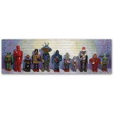 Trademark Fine Art Line-Up Canvas Art by Eric Joyner, Size: 8 x 24, Multicolor