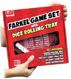 Legend has it that the fun Farkel dice game from Legendary Games originated in Texas, where early settlers carved dice out of hardened black farkleberries (or huckleberries or sparkleberries). A favorite of teachers, the game has been commercially marketed for almost 20 years by Legendary Games, based in Witchita, Kansas. pocketfarkel.com