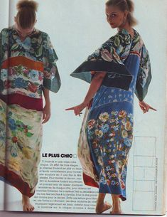 Diy Vetement, Grey Gardens, Couture Sewing, Vintage Scarf, Beach Dresses, Sewing Clothes, Refashion, Kaftan, Kimono Top