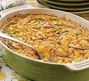 Making the most of convenience products, this corn casserole comes together quickly as an ideal side dish for chili, spicy pork, or chicken.