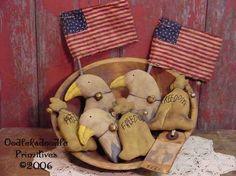 Items similar to Prim Americana Eagle Liberty Bell Flag Tucks Bowl Filler Ornies E-Pattern ET on Etsy Primitive Ornaments, Primitive Crafts, And July, Fourth Of July, Liberty Bells, Primitive Patterns, Patriotic Crafts, Bowl Fillers, Old Glory