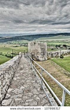 stock photo : The Spis Castle - Spissky hrad National Cultural Monument (UNESCO) - Spis Castle - One of the largest castle in Central Europe (Slovakia).