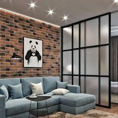 Home Bedroom, Bedroom Decor, Bedroom Divider, Condo Interior Design, Casa Loft, Trendy Furniture, Studio Apartment, House Floor Plans, Home Decor Items
