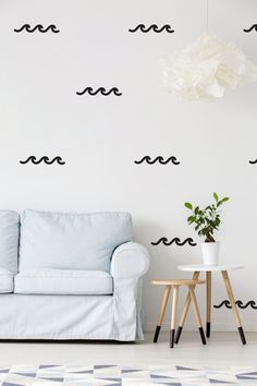 Waves Wall Decals Wall Stickers Waves Wall by LovelyPosters