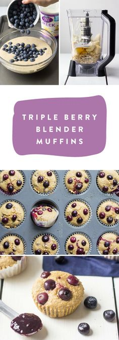 This recipe for Triple Berry Blender Muffins is almost too good to be true! By combining rolled oats with bananas, Dannon Light and Fit Vanilla Greek Yogurt, fresh blueberries, and Smucker's Triple Berry Fruit and Honey Spread you can easily whip up this sweet breakfast treat for your family. All that's left is to pick up all the ingredients you need at Target.