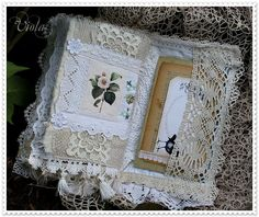 fabric and lace book by Viola of Vintage Inspired: nature (aka Shabby Chic Inspired)