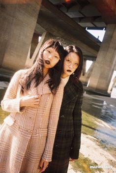 Kang So Young & Park Hee Jeong for Marie Claire Korea December 2015. Photographed By Jdz Chung