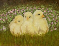 "Three's a Crowd, 11"" x 14"", oil on canvas, 2014, in the collection of Debra & Ted Cambell."