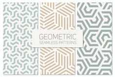 Geometric Seamless Patterns Set | Psdblast