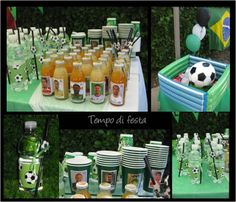 Persiguiendo estrellas...: fiestas de cumpleaños infantiles II Soccer Party Favors, Cold Lunches, 24th Birthday, Party Buffet, Ideas Para Fiestas, Childrens Party, Holidays And Events, Happy Day, Party Themes