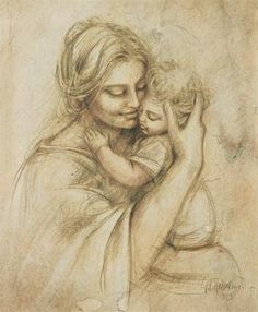 Mother and Child - by Leonardo da Vinci Mother Mary, Mother And Child, Mothers Love, Happy Mothers Day, Happy Sunday, Goddess Of Grain, Drawn Art, Madonna And Child, Blessed Mother